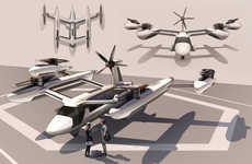 Futuristic Aerial Taxi Services - Uber Drew Inspiration from Drones for Its Flying Car Concept