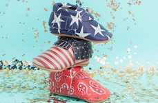 Independence Day Baby Moccasins