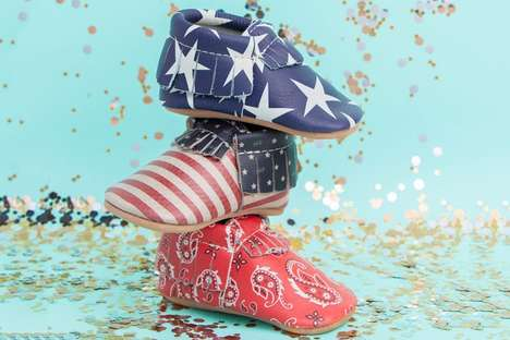Independence Day Baby Moccasins - Freshly Picked's 4th of July Range Has Three Celebratory Prints