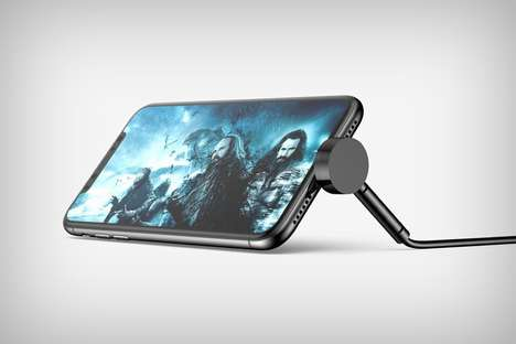 Smartphone-Angling Charger Cables