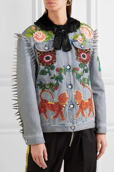 Spike-Embellished Embroidered Jackets