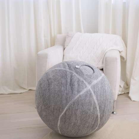 Handmade Wool Yoga Balls