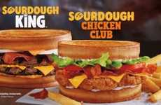 Artisan-Style QSR Sandwiches - The Burger King Sourdough Chicken Club is Made with 100% White Meat