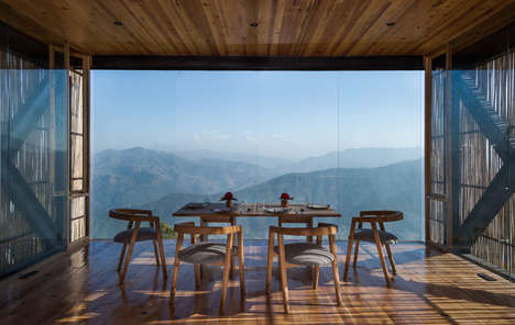 View-Optimizing Boutique Hotels - This Himalayan Hotel Was Built by Zowa Architects with Bamboo