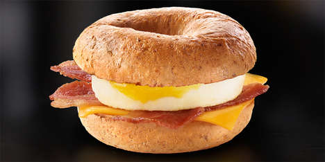 Fast Food Breakfast Bagels