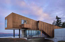 Rusted Cantilevered Homes - 'Rimrock' Offers a Vista of Pacific Northwestern Forests