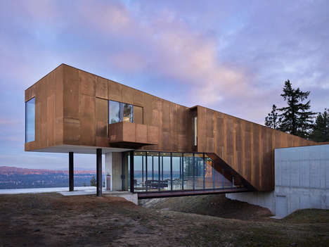 Rusted Cantilevered Homes