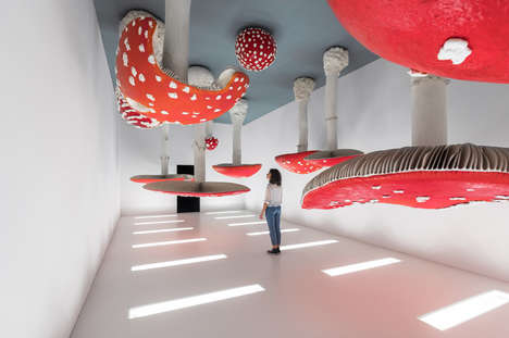 Gigantic Mushroom Ceiling Sculptures