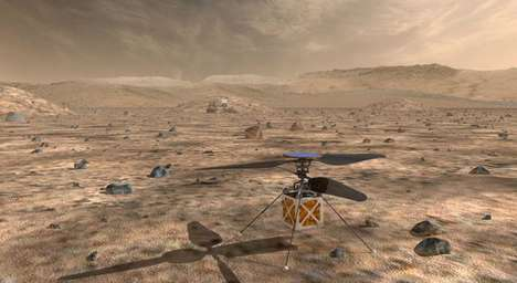 Mars-Exploring Helicopters