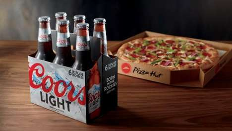 Pizza Brand Beer Deliveries - Pizza Hut Will Now Deliver a Six-Pack of Beer with Its Pizzas