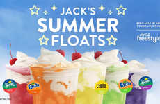 Colorful Fountain Drink Floats