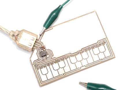 Stylophone-Sheathed Business Cards - The 'StyloCard' Can Be Used to Create Keyboard Sounds