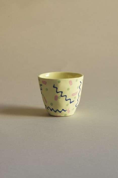 Handmade 90s-Style Mugs