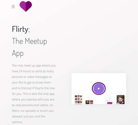 Time-Restricting Dating Apps - The 'Flirty' App Encourages Users to Meet as Soon as Possible