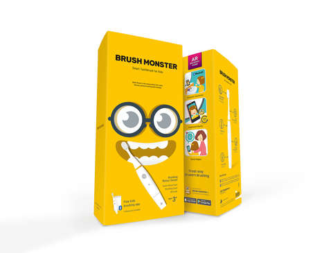 Educational AR Toothbrushes - The New Brush Monster Adds AR Icons to Entice Regular Tooth Brushing