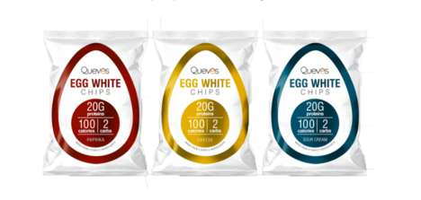 Egg White Chips - Quevos Makes Protein-Rich Chips with Just Four Natural Ingredients
