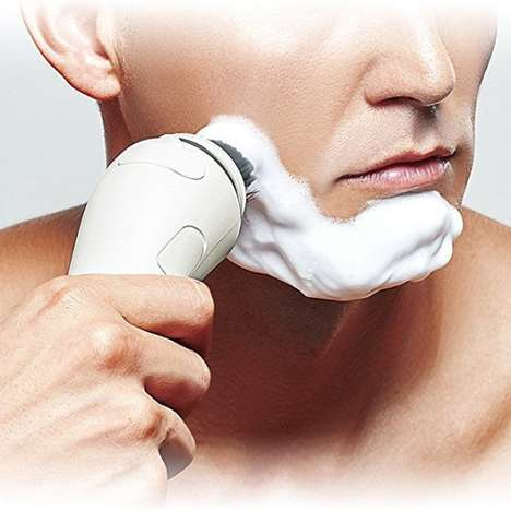Skin-Scrubbing Shaving Brushes - The Panasonic Facial Cleansing Shaving Brush Optimizes Grooming