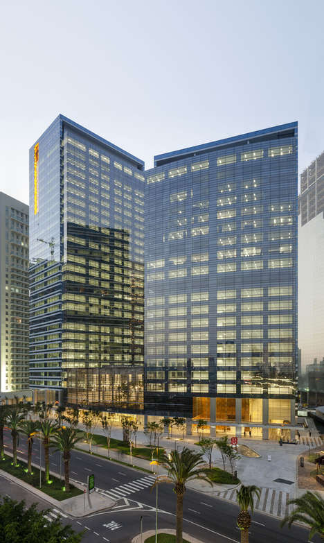 Forested Office Atria