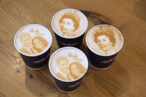 Royal Couple Latte Art
