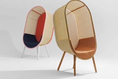 Midcentury Boho Lounge Chairs
