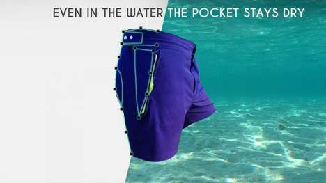 Waterproof Pocket Swim Trunks - The Aquanautia Shorts Protect Valuables from Being Waterlogged