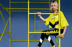 Vibrant Cut-Out Sneakers - The New PUMA Muse Cut-Out is Modeled by Cara Delevingne