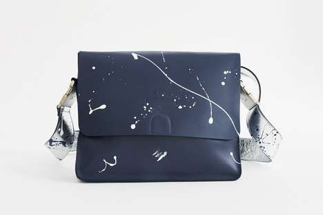 Paint-Splattered Leather Purses