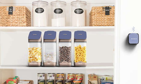 Stock-Measuring Smart Containers - The 'Stok' Canister Reminds You When it's Time to Go Shopping