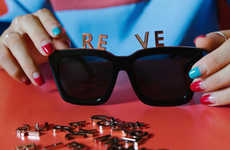 Customizable Alphabet Eyewear - REVÉ by RENÉ's 'Alphabet' Makes Personalized Sunglasses