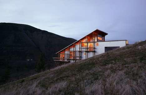 Latticed Canyon Houses