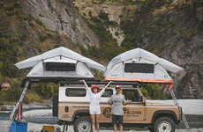 4x4 Rooftop Camper Tents - The Feldon Shelter Crows Nest Rooftop Tent Provides Space for Two