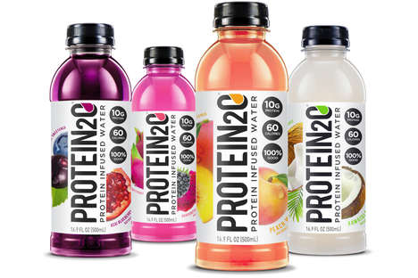 Protein-Infused Water - Protein2O's Naturally Sweetened Beverages Provide 10 Grams of Protein