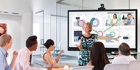 Interactive Productivity Smart Boards - The OneScreen 4K UHD Display is Android-Powered