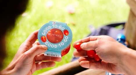 On-the-Go Tomato Snacks - Greenco's Good-to-Go Packaging Positions Tomatoes as a Healthy Snack