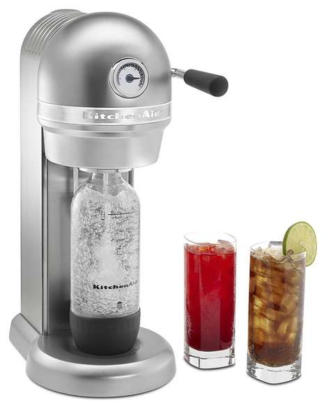 Die-Cast Soda-Making Appliances - The KitchenAid Sparkling Beverage Maker is Powered by SodaStream