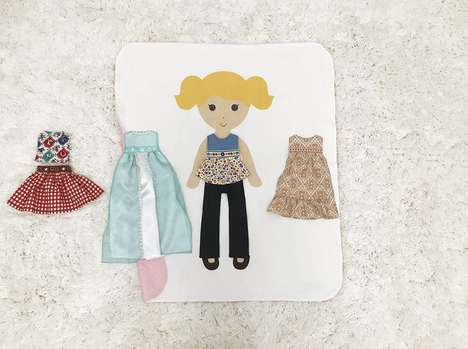 Customizable Paper Doll Bedding - The Paper Doll Blanket Allows Kids to Personalize the Style