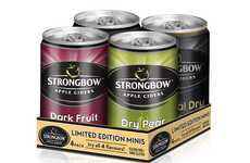 Canned Cider Summer Packs - The Strongbow Minis Range Consists of 4 Limited Edition Cans