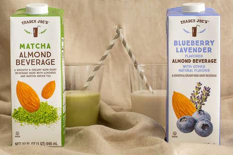 Lavender-Flavored Almond Beverages