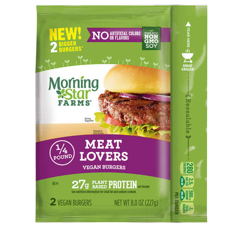 Carnivore-Targeted Vegan Burgers - MorningStar Farms Launched a 'Meat Lovers Vegan Burger'