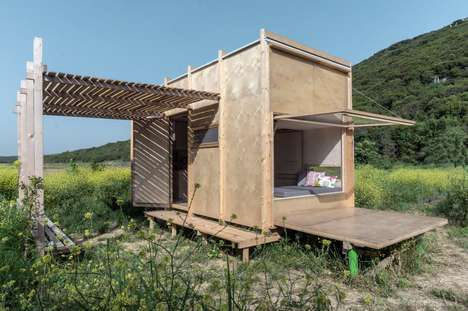 Prefab Pulley-Operated Shelters - 'Cabin on the Border' is an Eco-Friendly Off-Grid Cabin