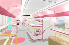 Cartoon Cat Train Designs - The Design Plans for the Hello Kitty Train in Japan Have Been Revealed