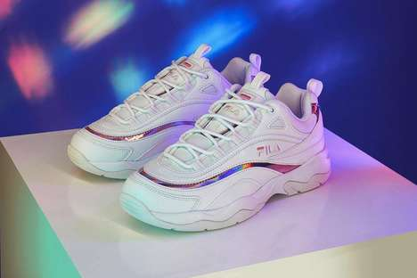 Chunky Holographic Sneakers - These New FILA Sneakers Feature Subtle Light-Reflecting Accents