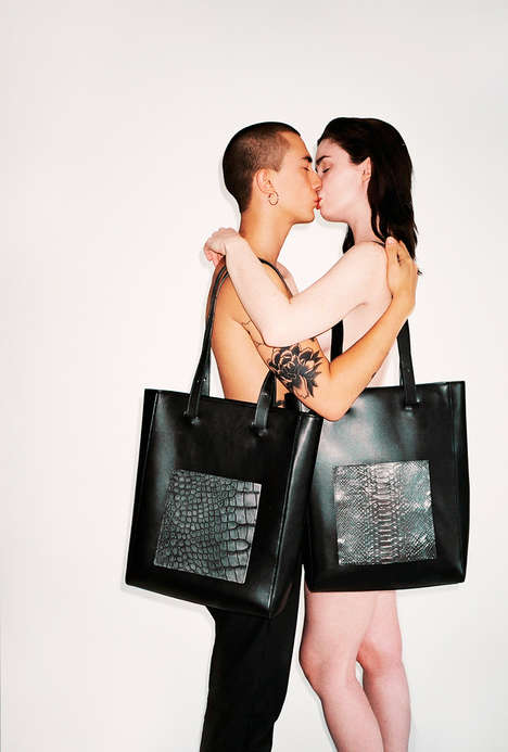 Romantically Presented Accessories - Totem Collective's New Bags are Shown in a Fluid Lookbook