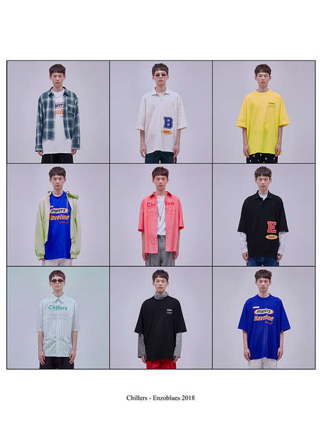 Individuality-Honoring Lookbooks - The New Enzo Blues Summer Collection is Dubbed 'Chillers'