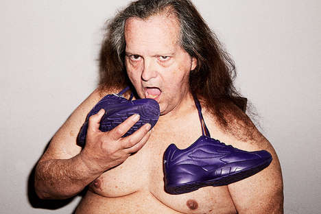 NSFW Sneaker Ads - Fila and Skim Milk Created All-Purple Shoes and Promoted Them with an Odd Ad