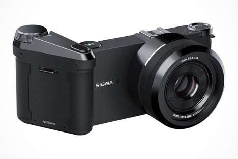 Ergonomic Extended Battery Cameras - The Sigma dpQ Integrates a Secure Handle for Easy Shooting