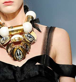 Gigantic Galactic Necklaces - Avant-Garde Chunky Metal And Gem Jewelry for Lanvin 2009