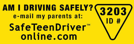 Teen Driver Tracking - Stickers and Website Developed by Paranoid Parents