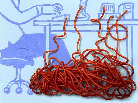 Geeky Mixed Media Art