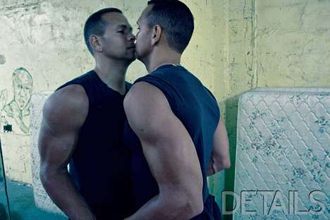 Narcissistic Celebrity Spreads - A-Rod's Self Love Photoshoot For Details Magazine Is Very Mad